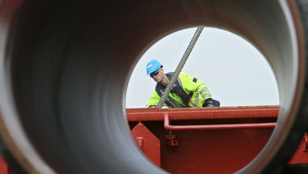 Строительство газопровода, фото из архива - Sputnik Азербайджан