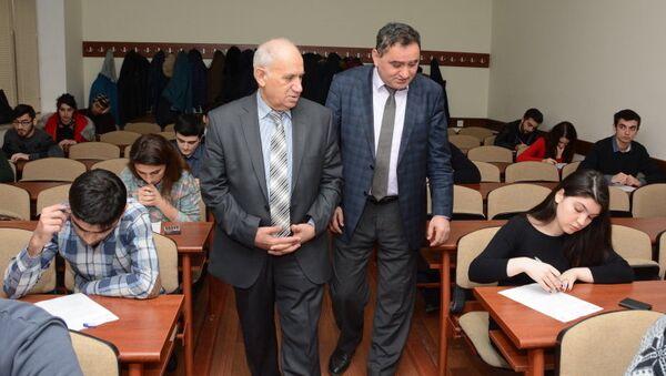 В UNEC проходят встречи под девизом «Знание должно оцениваться прозрачно и объективно» - Sputnik Azərbaycan