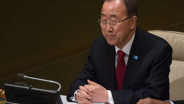 Генеральный секретарьООН Пан Ги Мун - Sputnik Азербайджан
