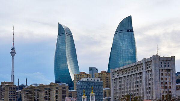 Вид на Flame Towers - Sputnik Азербайджан