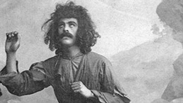 Гусейнкули Сарабский в роли Меджнуна в 1909 году - Sputnik Азербайджан