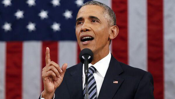 Президент США Барак Обама выступает перед Конгрессом - Sputnik Azərbaycan