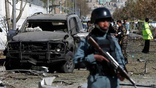 Афганские полицейские. Архивное фото - Sputnik Azərbaycan