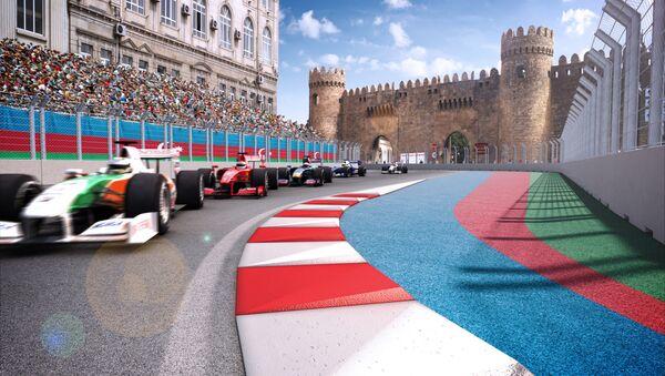 Участок трассы Бакинского этапа гонок Формулы 1 - Sputnik Азербайджан