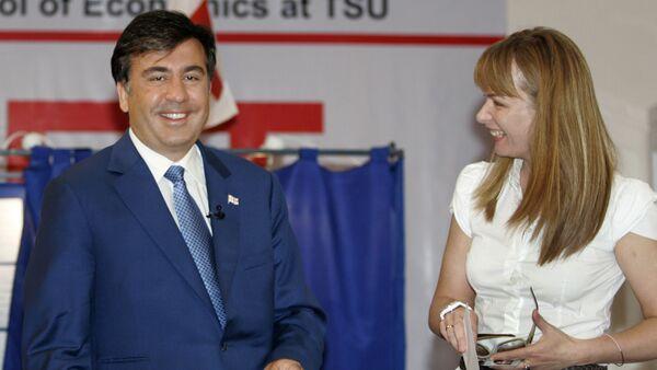 Mixail Saakaşvili və Sandra Rulofs - Sputnik Azərbaycan