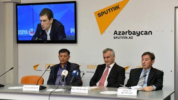 Видеомост в пресс-центре Sputnik Азербайджан 27.01.2016 - Sputnik Азербайджан