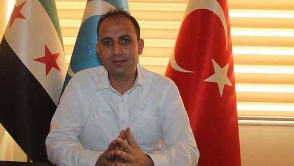 Заместитель председателя партии Национальное движение сирийских туркмен  Тарык Суло Джевизджи - Sputnik Азербайджан