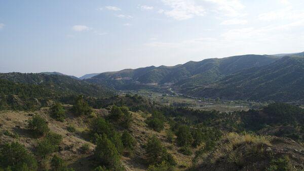 Вид на оккупированный город Лачын - Sputnik Азербайджан