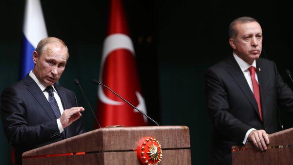Vladmir Putin və Rəcəb Tayyip Ərdoğan. Arxiv şəkli - Sputnik Azərbaycan