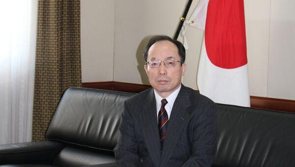 Чрезвычайный и полномочный посол Японии в Азербайджане, господин Цугуо Такахас - Sputnik Азербайджан
