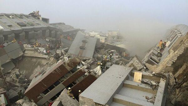 Последствия землетрясения в Тайване - Sputnik Азербайджан