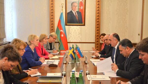 Встреча главы МИД АР Эльмара Мамедъярова с министром иностранных дел Швеции Маргот Вальстрем - Sputnik Азербайджан