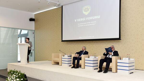 В Баку 10 февраля стартовал пятый Налоговый форум на тему: Налоговая система Азербайджана: реальность и перспективы - Sputnik Азербайджан