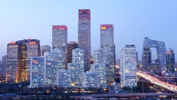 Вид на деловой район Пекина - Sputnik Азербайджан