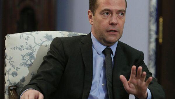 Председатель правительства РФ Дмитрий Медведев - Sputnik Азербайджан