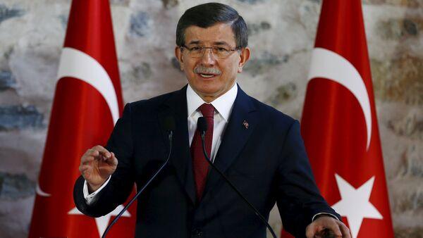 Премьер-министр Турции Ахмет Давутоглу - Sputnik Азербайджан
