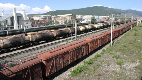Грузовые составы. Архивное фото - Sputnik Азербайджан