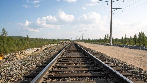 Железнодорожные рельсы. Архивное фото - Sputnik Азербайджан