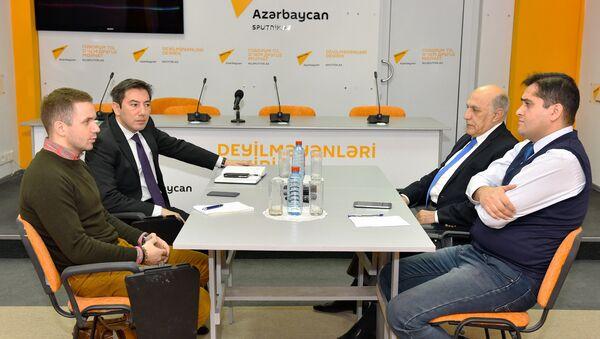 Заседание дискуссионного клуба политологов в Международном пресс-центре Sputnik - Sputnik Азербайджан