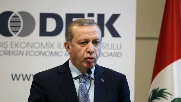 Реджеп Тайип Эрдоган, президент Турции - Sputnik Азербайджан