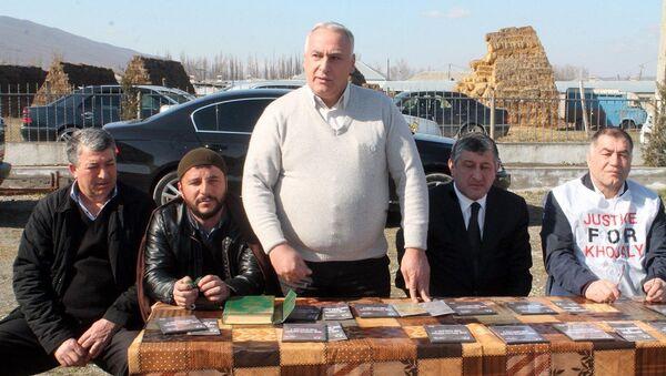General-mayor Cumber Ananidze Xocalı soyqırımına həsr olunmuş tədbirdə çıxış edir - Sputnik Azərbaycan