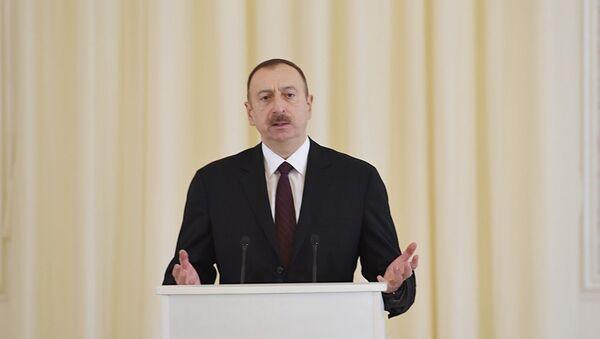 İlham Əliyev - Gəncə ziyarəti - Sputnik Azərbaycan
