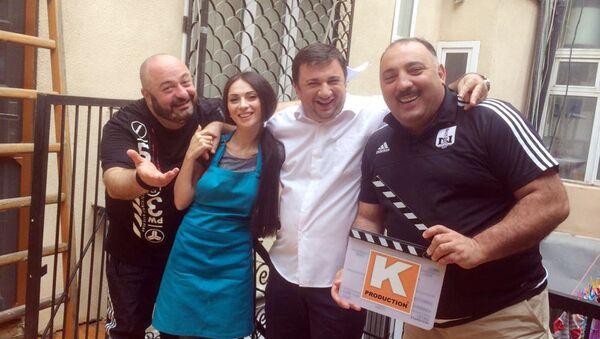 Съемки фильма Робинзон и девять Пятниц - Sputnik Азербайджан