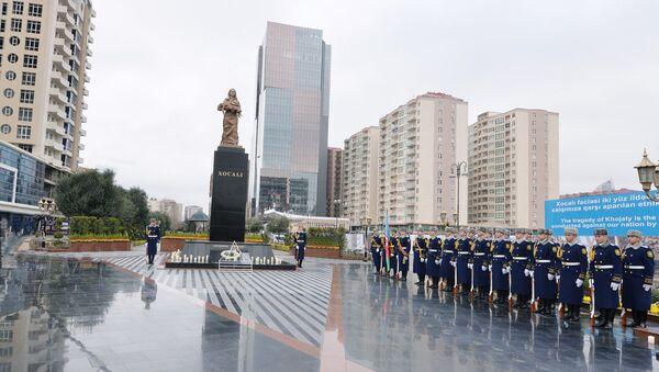 Церемония в память жертв Ходжалинской трагедии. Архивное фото - Sputnik Азербайджан