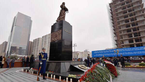 Церемония почитания памяти жертв Ходжалинской трагедии, архивное фото - Sputnik Азербайджан