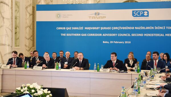 Президент Азербайджана Ильхам Алиев принимает участие в заседании Консультативного совета Южного газового коридора - Sputnik Азербайджан