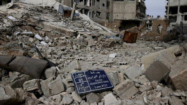 Разрушенные здания в Дамаске - Sputnik Азербайджан