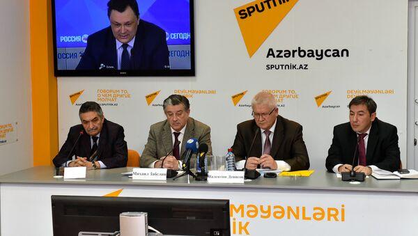 Видео-мост Баку-Москва на тему: Россия и Азербайджан: взаимодействие в гуманитарной сфере - Sputnik Азербайджан