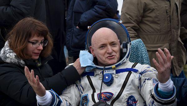 Скотт Келли, американский астронавт NASA - Sputnik Азербайджан