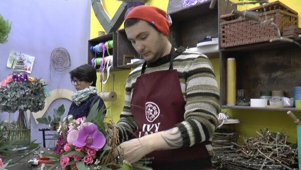 Дарите женщинам цветы: мастер-класс проводит бакинский флорист - Sputnik Азербайджан