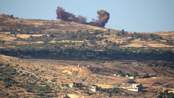 Результаты авиаударов по территории Сирии. Архивное фото - Sputnik Азербайджан