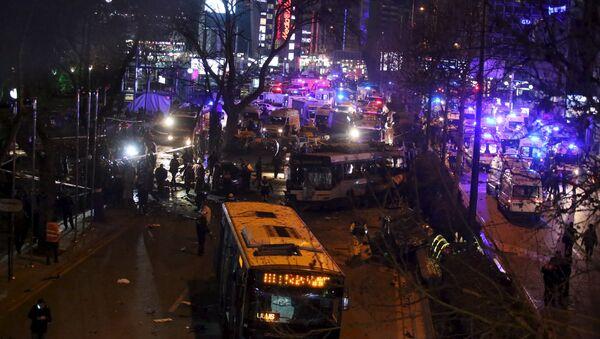Место взрыва в Анкаре - Sputnik Азербайджан