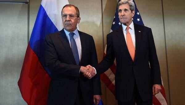 Встреча Сергея Лаврова и Джона Керри. Архивное фото - Sputnik Азербайджан