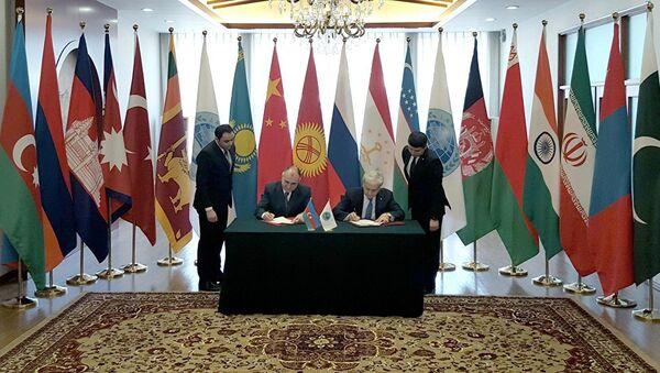 Подписание Меморандума о предоставлении Азербайджану статуса партнера по диалогу ШОС - Sputnik Азербайджан