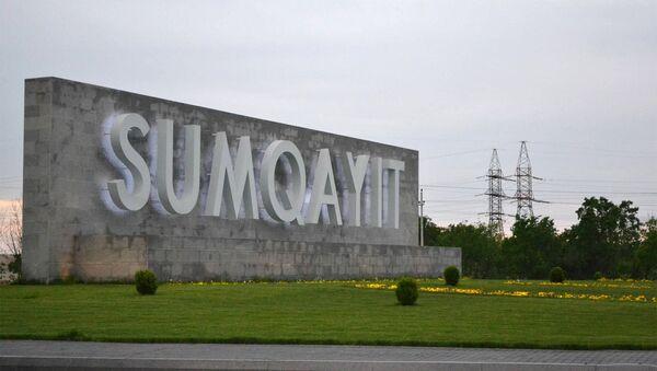 Въезд в город Сумгайыт. Архивное фото - Sputnik Azərbaycan