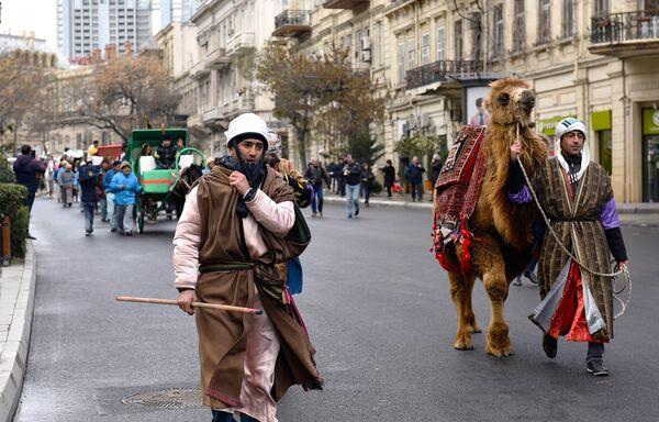 Праздничное шествие в преддверии Новруза - Sputnik Азербайджан