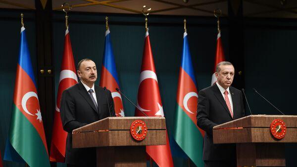 Президенты Азербайджана и Турции выступили с заявлением для прессы - Sputnik Azərbaycan