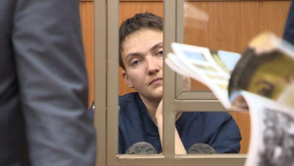 Савченко запела песню на украинском языке во время оглашения приговора - Sputnik Азербайджан