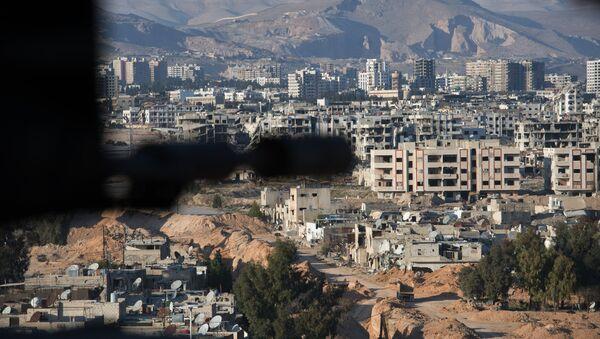 Ситуация в сирийском городе Дамаске - Sputnik Азербайджан