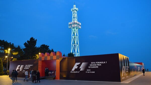 Фан-зона Формулы-1 в Баку - Sputnik Азербайджан