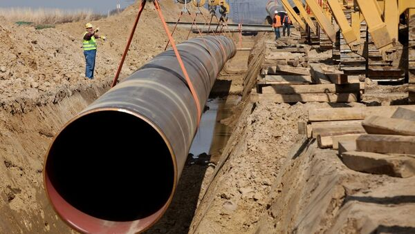 Строительство газопровода. Архивное фото - Sputnik Азербайджан