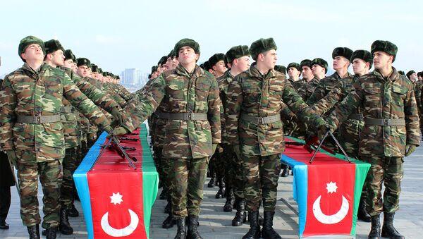 Церемония принесения военной присяги солдатов азербайджанской армии, фото из архива - Sputnik Азербайджан