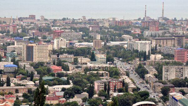 Вид на дагестанский город Махачкала - Sputnik Азербайджан