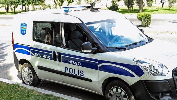 Автомобиль дежурной части полиции в Баку. Архивное фото - Sputnik Азербайджан