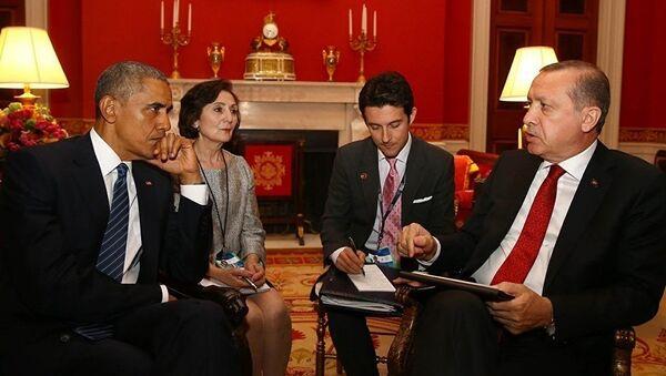 Barak Obama və Rəcəb Tayyip Ərdoğan - Sputnik Azərbaycan