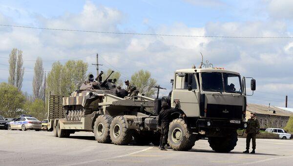 Бронетранспортер вооруженных сил Азербайджана в зоне боевых действий - Sputnik Азербайджан